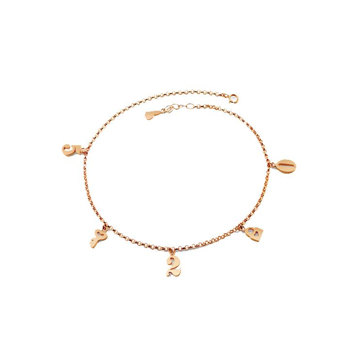 Personalized Name Bracelet - 5 Charm