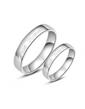 Couple Personalized Name Ring - Round