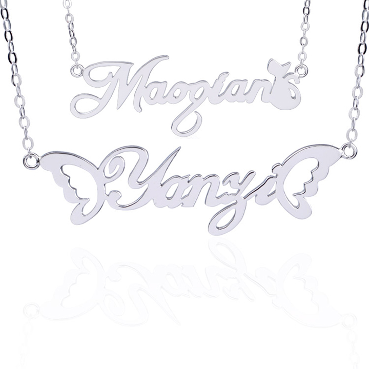 Double Layer Personalized Name Necklace