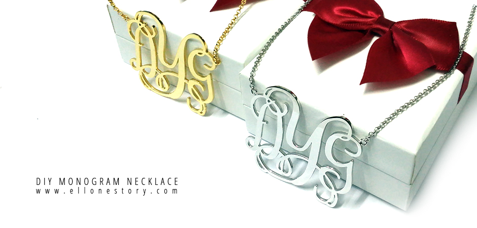 Personalized Name Monogram Necklace