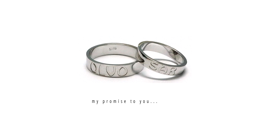Personalized Name Couple Ring
