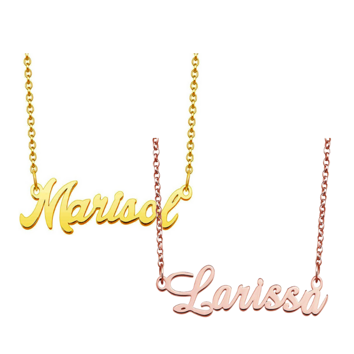 [ 2 piece ] Copper Personalized Name Necklace